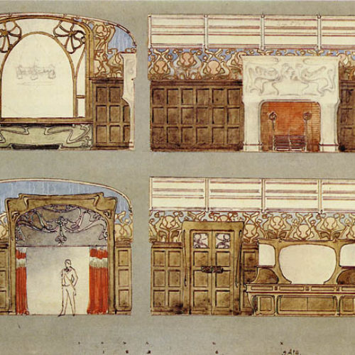 Эскиз столовой в особняке Степана
