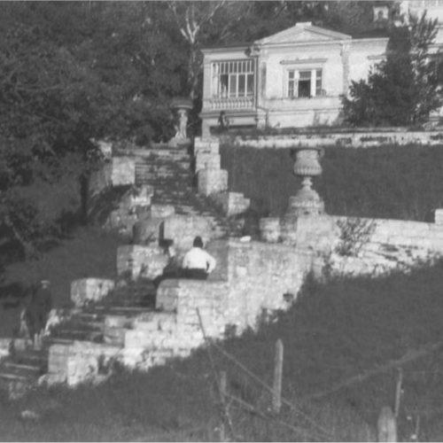Лестница к фонтану