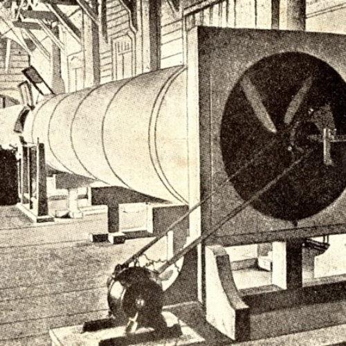 Аэродинамическая труба в здании лаборатории Кучинского института
